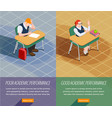 academic performance banners set vector image vector image