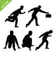 Actions of Business man silhouettes vector image vector image