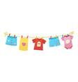 baby clothes bright kid textile after laundry vector image