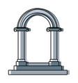 beautiful romantic arch door element for your vector image vector image