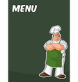 blackboard with cook or chef vector image vector image