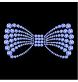 Blue gemstone bow composition vector image vector image