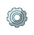 blue shading silhouette of gear of wheel vector image vector image