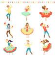 brazilian festa junina party happy men and women vector image