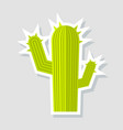 cactus icon in cartoon style isolated on white vector image vector image