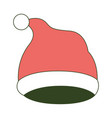 christmas hat santa claus on color section vector image