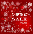 christmas sale poster special offer discount vector image vector image