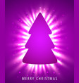 christmas tree made of pink paper on pink vector image