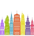 Colorful Modern Big City vector image vector image