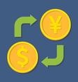 Currency exchange Dollar and YenYuan vector image vector image