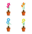 cute flower pot for mothers day vector image vector image