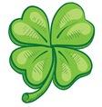 Doodle four leaf clover lucky