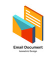 email document isometric vector image vector image