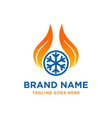 fire cooling logo vector image