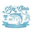 fishing tournament logo vector image