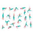 fitness yoga woman set vector image