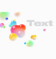 floating soft colored spheres dynamic motion vector image vector image