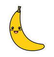 fresh banana isolated icon vector image vector image