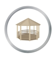Gazebo icon in cartoon style isolated on white vector image vector image