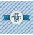 Happy Fathers Day festive Label with Ribbon vector image vector image