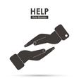 Help icon design vector image vector image