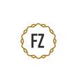 initial letter fz elegance creative logo vector image vector image
