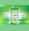 lemon soft drink poster design template vector image vector image