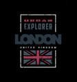 london grange style t-shirt print design on a vector image vector image
