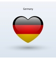 Love Germany symbol Heart flag icon vector image