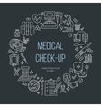 Medical poster template line icon medical vector image vector image