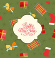 merry christmas festive seamless pattern vector image
