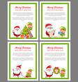 merry christmas helper santa vector image vector image