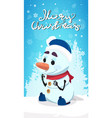 merry christmas poster with santa claus stack in vector image