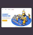 metal industry banner vector image vector image