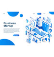 modern isometric design startup your project vector image vector image