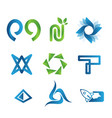 modern logo collection vector image vector image