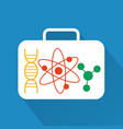 molecules modern design flat icon with long shadow vector image vector image