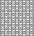 Monochrome abstract ellipse eye repeat pattern vector image vector image