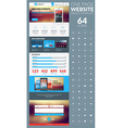 One page website template in flat style with icon vector image vector image