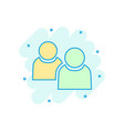 people communication icon in comic style people vector image vector image