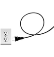Plug in electric energy outlet copy space cord vector | Price: 1 Credit (USD $1)