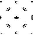 royal crown pattern seamless black vector image vector image