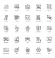 seo line icons pack vector image vector image