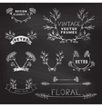 Set of chalk floral design elements vector image vector image