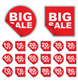 set of sale tags vector image vector image