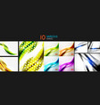 set of wave templates vector image