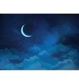 sky moon vector image vector image