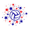 stars fireworks volleyball vector image vector image