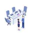 successful business negotiations isometric vector image vector image