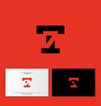 t and 7 letters logo monogram hidden vector image vector image